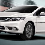 civic white samping