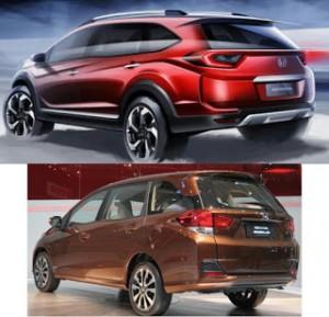 Tampak samping Honda BRV mirip Honda Mobilio ?